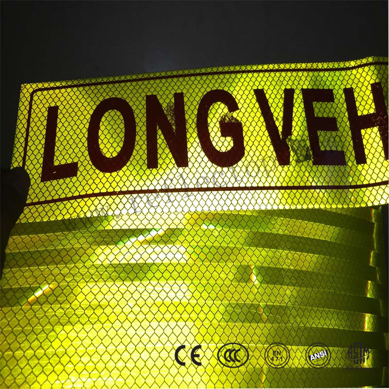 reflective vinyl signage for road sign