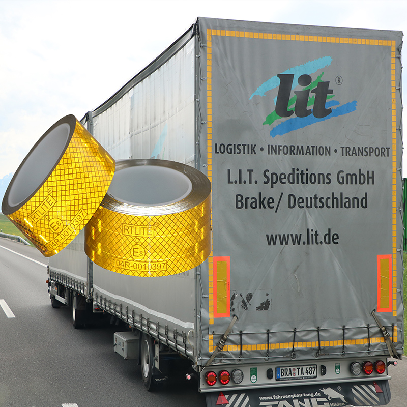 RTLITE Reflective Tape Application on Truck