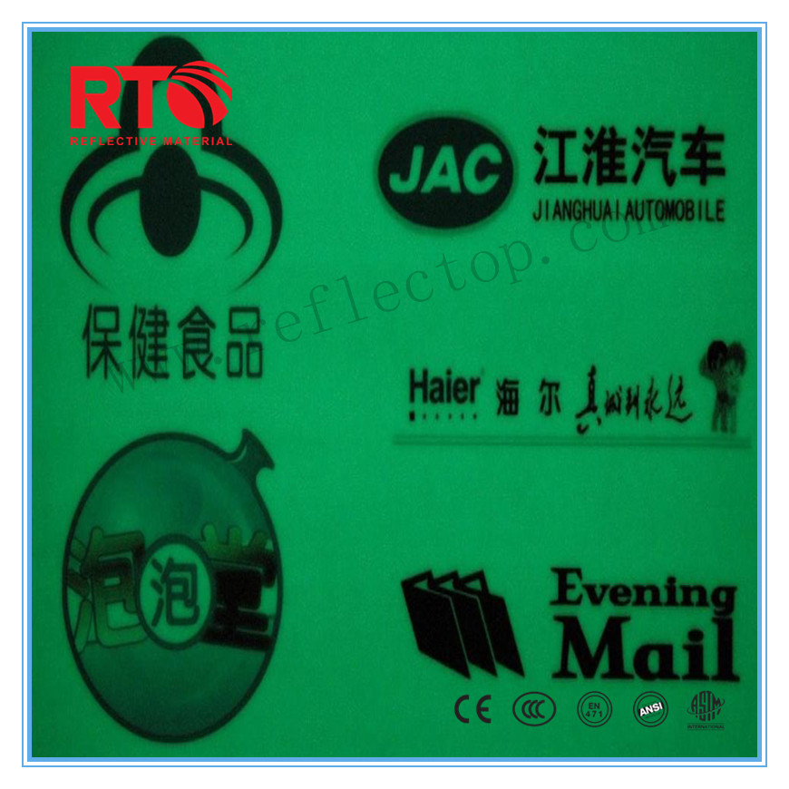 luminescent film for safety signs