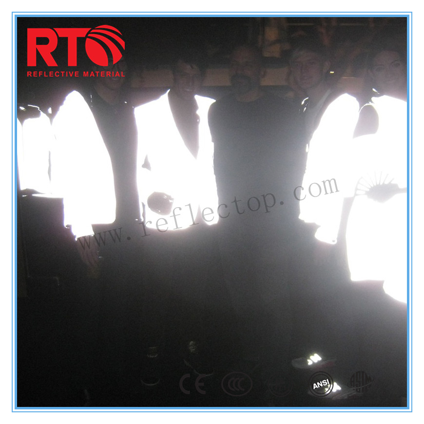 Silver Visibility Reflective Fabric For Jacket