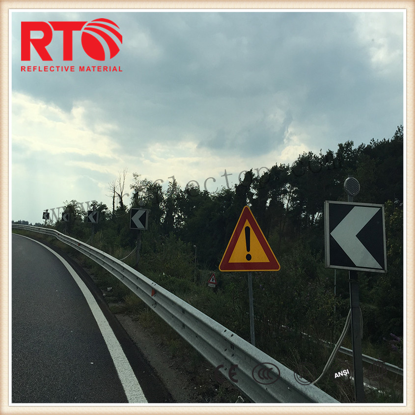 Engineer grade reflective sheeting for roadway safety signs