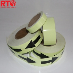 Good Quality 6-8hrs Arrow Printing Glow In The Dark Reflective Tape
